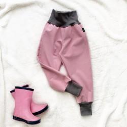 Softshellové nohavice staroružové zateplené