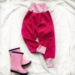 Softshellové nohavice ružové zateplené