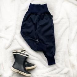 Softshellové nohavice tmavomodré zateplené