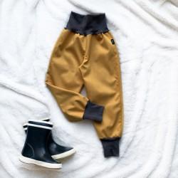 Softshellové nohavice horčicové prechodné (jarné)