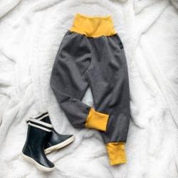 Softshellové nohavice šedé zateplené