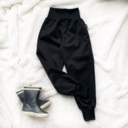 Softshellové nohavice čierne zateplené