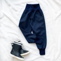Softshellové nohavice tmavomodré prechodné (jarné)