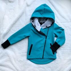 Softshellová bunda so šikmým zipsom