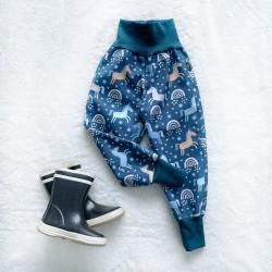 Softshellové nohavice jednorožci (jarné)