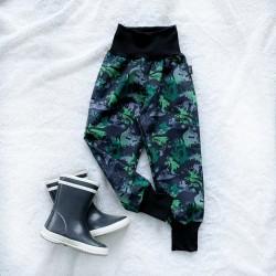 Softshellové nohavice dino maskáč prechodné (letné)