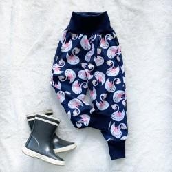 Softshellové nohavice labute zateplené