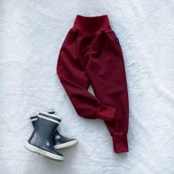Softshellové nohavice bordové zateplené