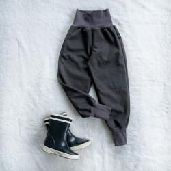 Softshellové nohavice tmavošedé prechodné (jarné)