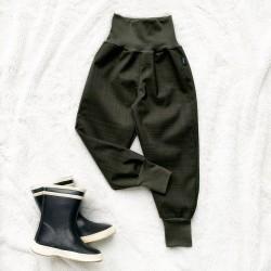 Softshellové nohavice khaki prechodné (jarné)